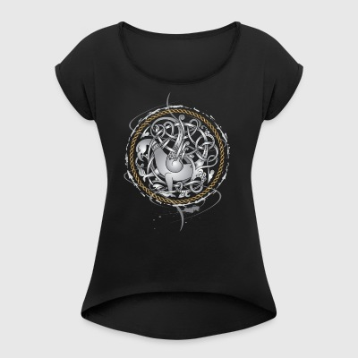 Viking Hawk - Women's T-shirt with rolled up sleeves