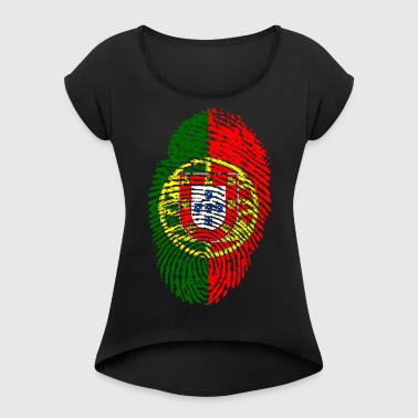 PORTUGAL / PORTUGIESE FINGERABPRESSION - Women's T-shirt with rolled up sleeves