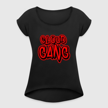 Cloud Gang OG Logo - Women's T-shirt with rolled up sleeves