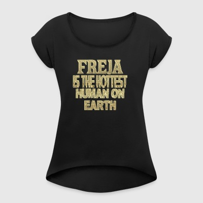 Freja - Women's T-shirt with rolled up sleeves