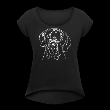 Great Dane - Great Dane - Women's T-shirt with rolled up sleeves