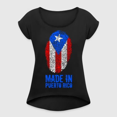 Made In Puerto Rico - Dame T-shirt med rulleærmer