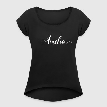 amelia - Women's T-shirt with rolled up sleeves