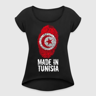 Realizzato in Tunisia / Made in Tunisia تونس ⵜⵓⵏⴻⵙ - Maglietta da donna con risvolti