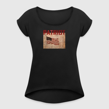 Patriot USA TShirt - Women's T-shirt with rolled up sleeves
