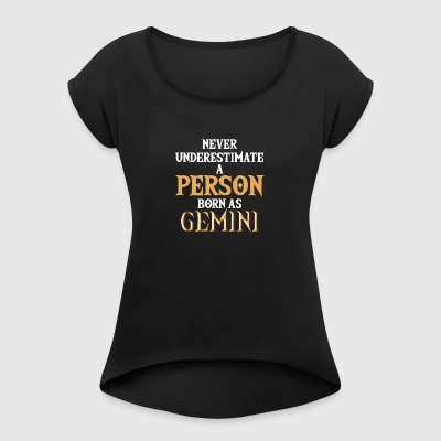 Star sign Gemini / Zodiac Gemini - Women's T-shirt with rolled up sleeves