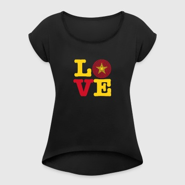VIETNAM HEART - Women's T-shirt with rolled up sleeves