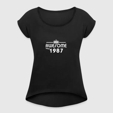 Gift for 31 year old, 31st birthday - Women's T-shirt with rolled up sleeves