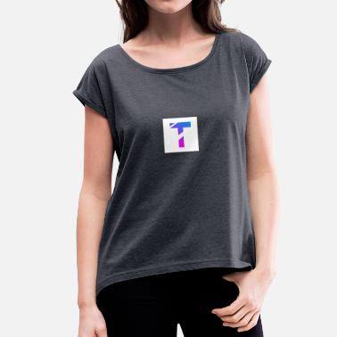 Faded Faded T logo - Women's T-Shirt with rolled up sleeves