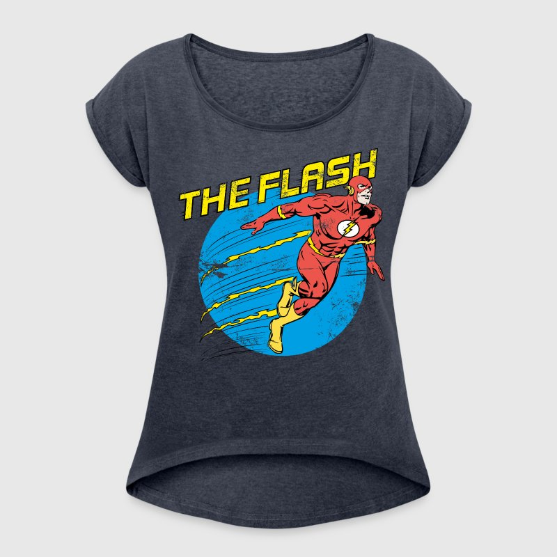 DC Comics Justice League The Flash - Dame T-shirt med rulleærmer