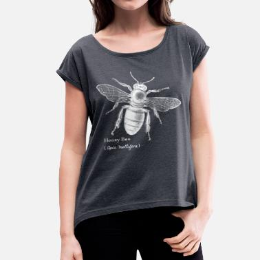 Science Animal Planet Honey Bee - Women's T-Shirt with rolled up sleeves