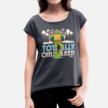 Kevin Eastman TMNT Turtles Donatello Totally Chillaxed - Women's Rolled Sleeve T-Shirt