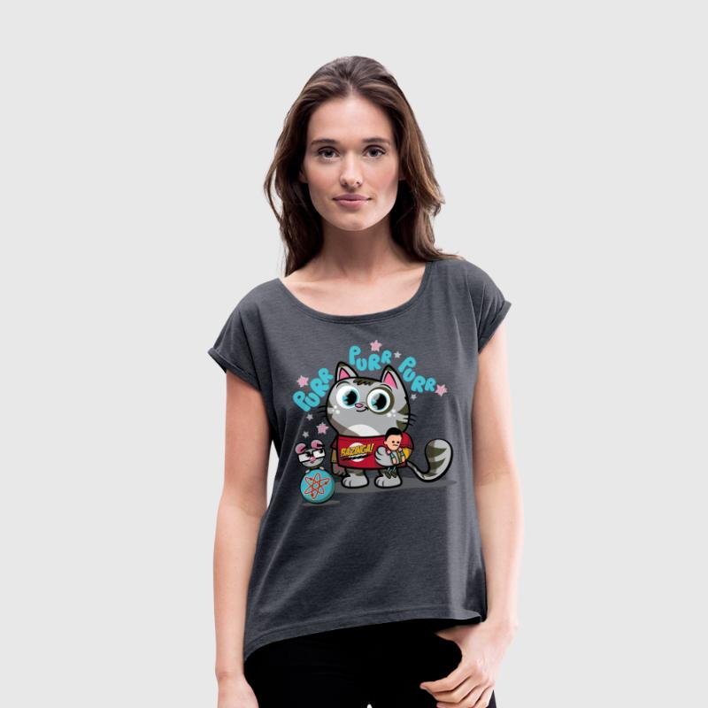 The Big Bang Theory Soft Kitty - T-shirt à manches retroussées Femme