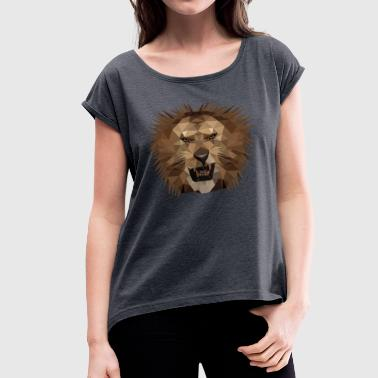 Big Five Lion Africa Big Five Gift Gift Idea - Women's T-Shirt with rolled up sleeves