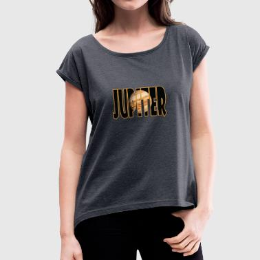 Jupiter JUPITER - Women's T-Shirt with rolled up sleeves