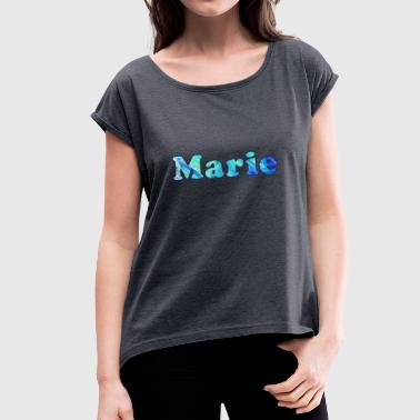 Marie - Women's T-Shirt with rolled up sleeves