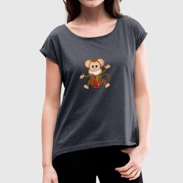 Sangria Monkey sangria - Women's T-Shirt with rolled up sleeves