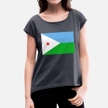 Djibouti djibouti - Women's T-Shirt with rolled up sleeves