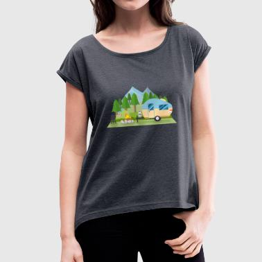 caravan - Women's T-Shirt with rolled up sleeves