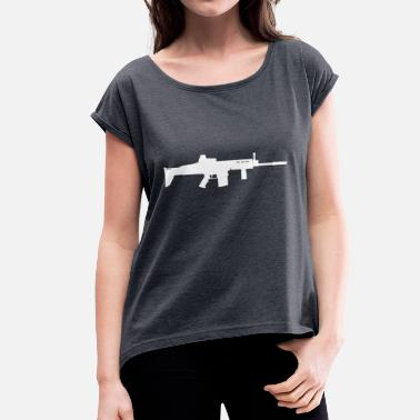 Scar SCAR-H - Women's T-Shirt with rolled up sleeves