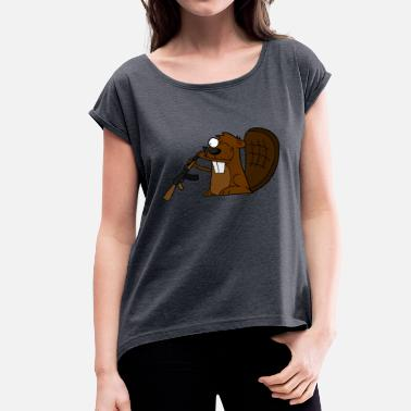 Beaver AKMajava - Women's T-Shirt with rolled up sleeves