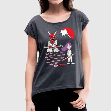 duel with devil 2 - Women's T-Shirt with rolled up sleeves
