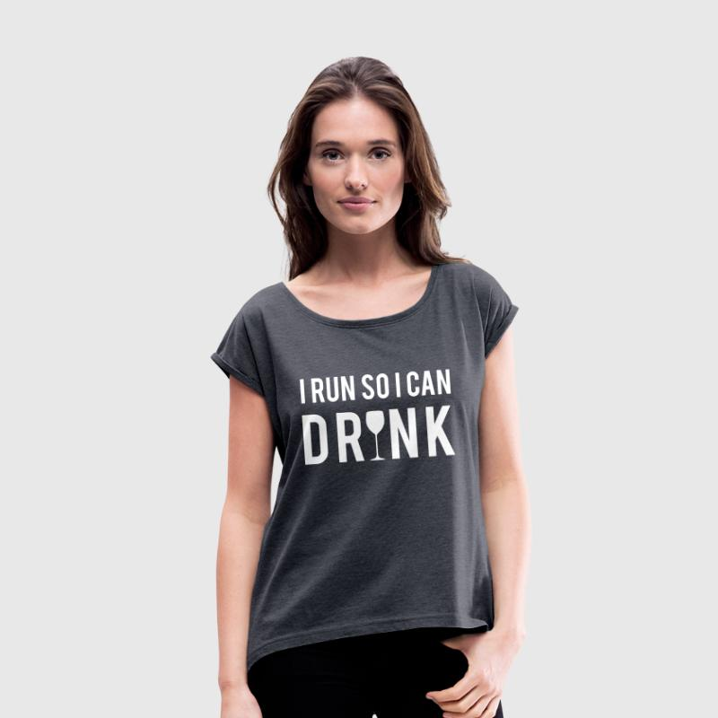 Run - Women's T-shirt with rolled up sleeves