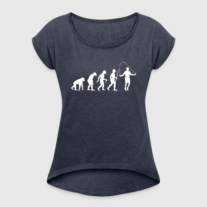 Evolution Rope Skipping - Women's T-shirt with rolled up sleeves