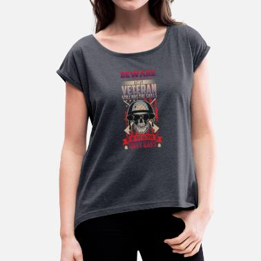 Veterans veteran - Women's T-Shirt with rolled up sleeves