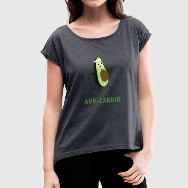 Avocardio workout cardio workout gave - Dame T-shirt med rulleærmer