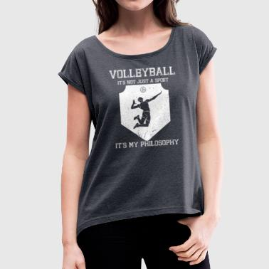 Cram Volleyball cram life philosophy - Women's T-Shirt with rolled up sleeves
