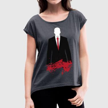 The Hitman - Stained - Women's T-Shirt with rolled up sleeves
