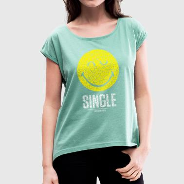 SmileyWorld Single Smiley - Women's T-shirt with rolled up sleeves