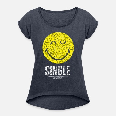 SmileyWorld Single Smiley - Women's Rolled Sleeve T-Shirt