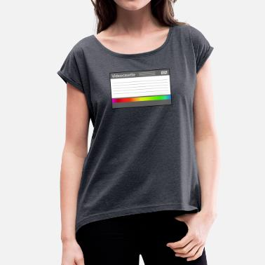 Record Label VHS label - Women's T-Shirt with rolled up sleeves