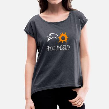 Shooting Stars Shooting Star - Women's T-Shirt with rolled up sleeves