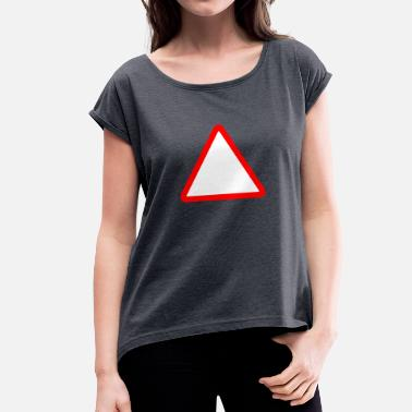 Street Sign street sign - Women's T-Shirt with rolled up sleeves