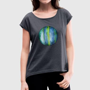 Uranus - Women's T-Shirt with rolled up sleeves