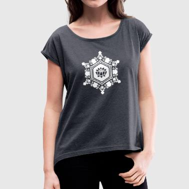 water crystal love with Lotus / Masaru Emoto - Dame T-shirt med rulleærmer