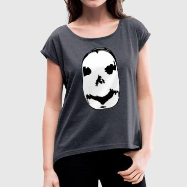 smile face - Women's T-Shirt with rolled up sleeves