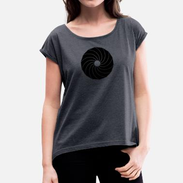 Lens lens - Women's T-Shirt with rolled up sleeves