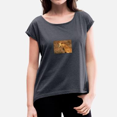 Lion Dog lion - Women's T-Shirt with rolled up sleeves