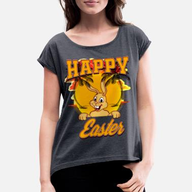 Easter Bunny EASTER Happy Easter Day - Women's Rolled Sleeve T-Shirt