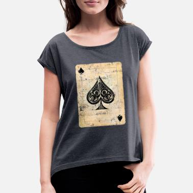 Ace Of Spades Poker card ace of spades - Women's Rolled Sleeve T-Shirt