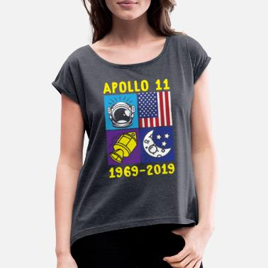 Armstrong Apollo 11 Pop Art Design for 50th Anniversary - Women's Rolled Sleeve T-Shirt