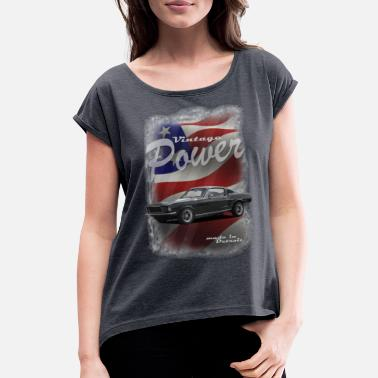 Car Logo FoMu 2019 Shirt 154 without brand and logo - Women's Rolled Sleeve T-Shirt