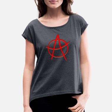 Anarchy ANARCHY / anarchy - Women's Rolled Sleeve T-Shirt