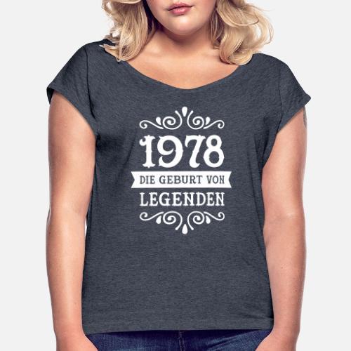 1978 die geburt von legenden frauen t shirt mit. Black Bedroom Furniture Sets. Home Design Ideas