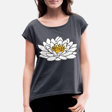 Lotus flower - Women's Rolled Sleeve T-Shirt