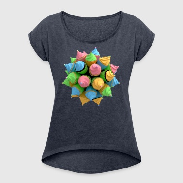 Cupcakes - Women's T-shirt with rolled up sleeves